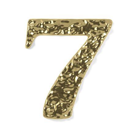 gold font - number 7