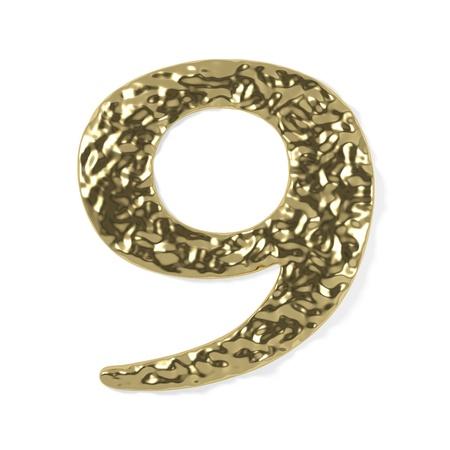 gold font - number 9 photo