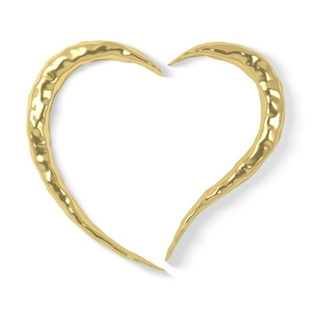 gold heart - dented photo