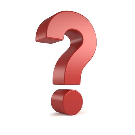 punto interrogativo: punto interrogativo 3d rosso Archivio Fotografico