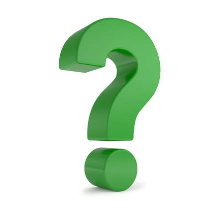 green 3d question mark Stock Photo - 8808734