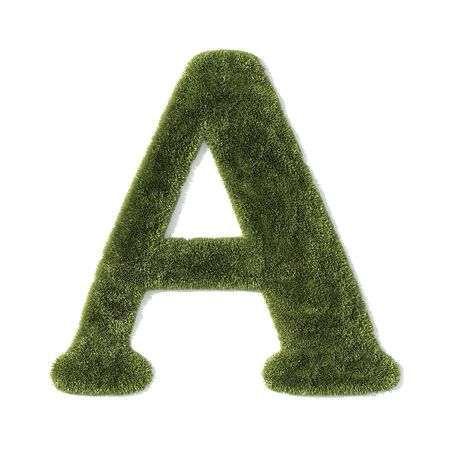 grass font - letter a photo