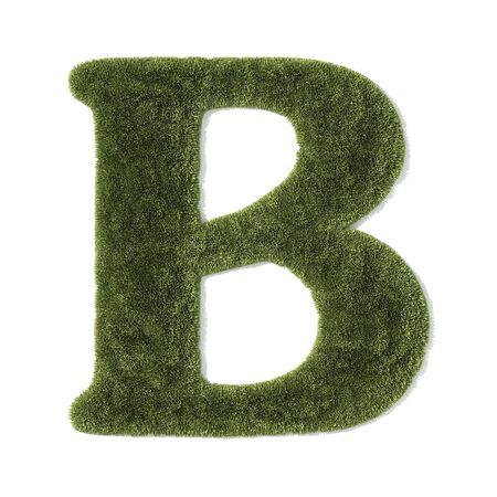 grass font - letter b photo