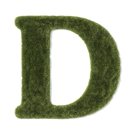 grass font - letter d photo