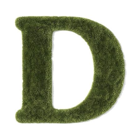 grass font - letter d photo