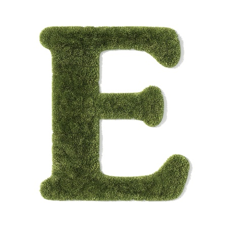 grass font - letter e photo