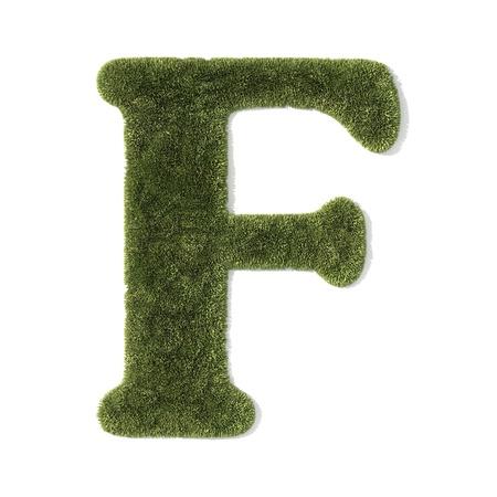 grass font - letter f photo