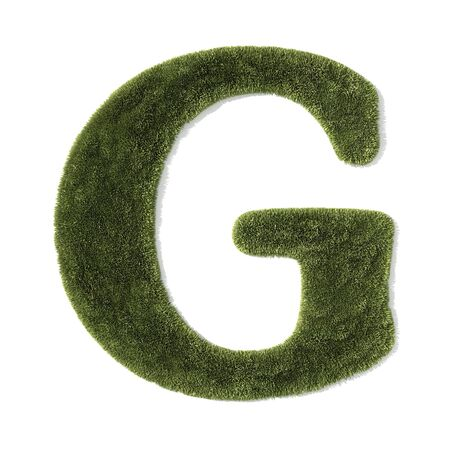 grass font - letter g photo