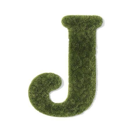 grass font - letter j photo