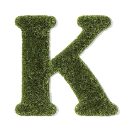 grass font - letter k photo