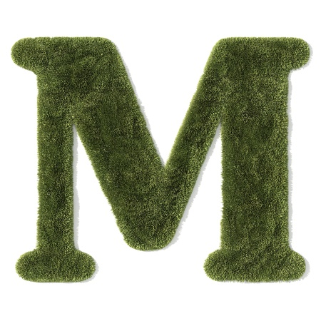 grass font - letter m photo