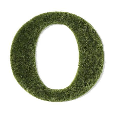 grass font - letter o photo