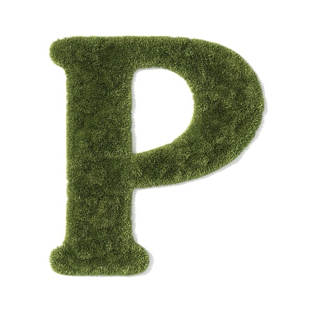 grass font - letter p photo