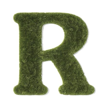 grass font - letter r photo