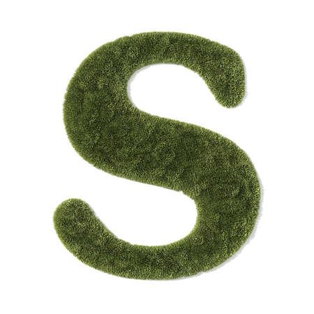 grass font - letter s photo