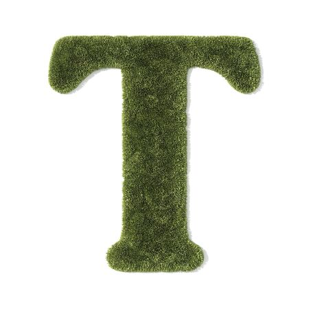 grass font - letter t photo