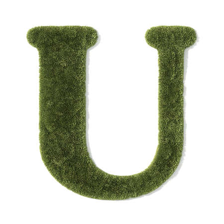 grass font - letter u photo