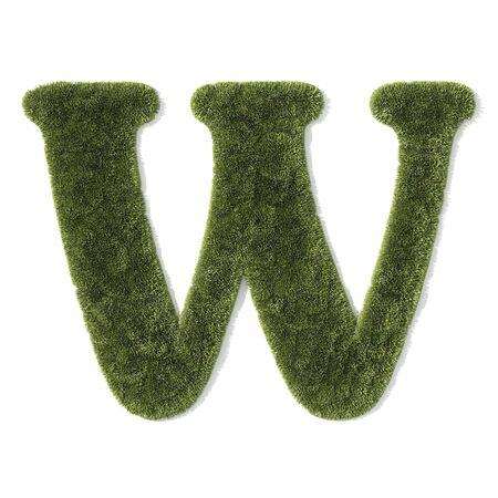 grass font - letter w photo