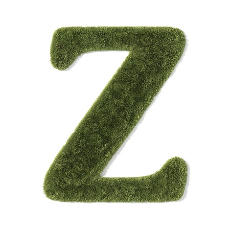 grass font - letter z photo