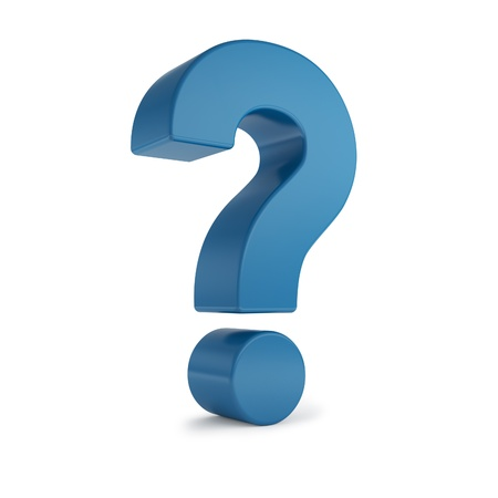 punto di domanda: punto interrogativo 3d blu Archivio Fotografico