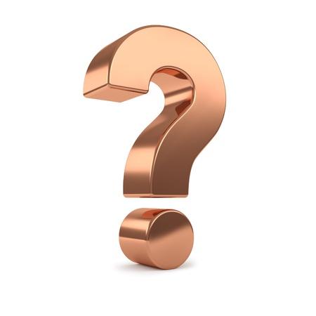 punto di domanda: rame interrogativo 3d