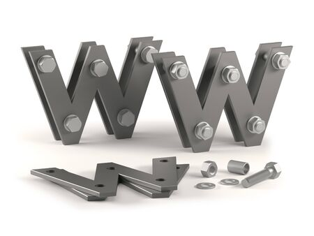 web page under construction with bolts  Stock Photo - 9035120