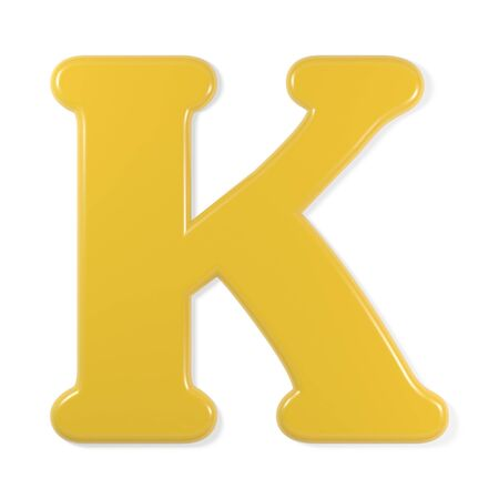 yellow font - letter k photo