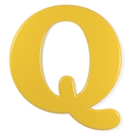 q: yellow font - letter q