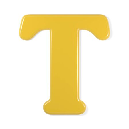 yellow font - letter t photo