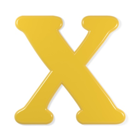 geel lettertype - letter x