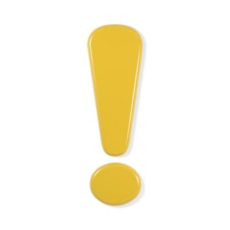 Gele lettertype - uitroepteken Stockfoto - 9195859