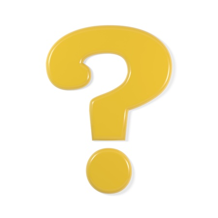 yellow font - question mark