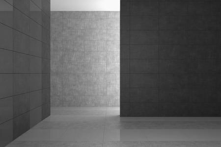 회색 타일 빈 현대적인 욕실 스톡 콘텐츠 - 28073270