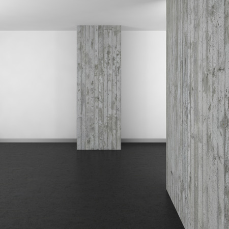 resin: empty modern bathroom with concrete wall and dark floor