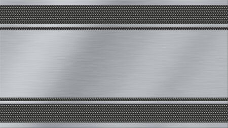 brushed: metal texture background with brushed steel and dark metal woven