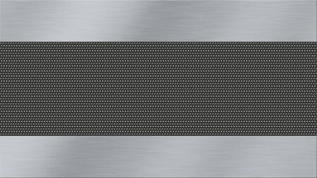 aluminum: metal texture background with brushed steel and dark metal woven