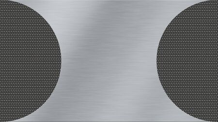 brushed steel: metal texture background with brushed steel and dark metal woven