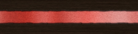 ripped metal: Background with dark wood over red brushed metal with copy space