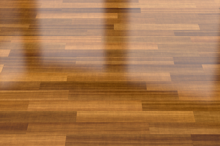 Close-up weergave van donkere houten parketvloer, achtergrond
