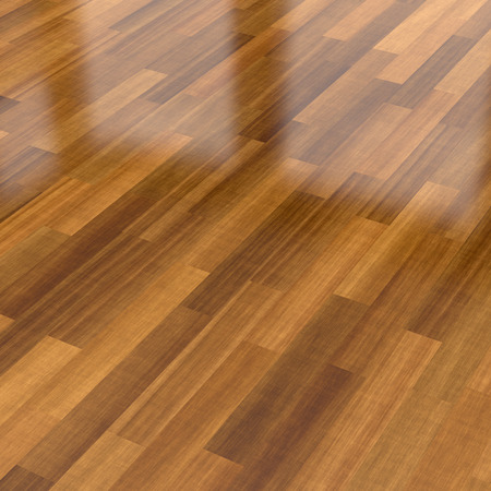 Close-up view of dark wood parquet floor, background
