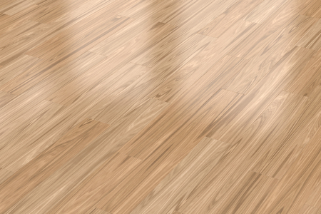 Background with light wood parquet floor, close-up view