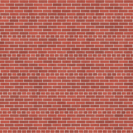 brick texture: Background texture of red brick wall, common bond Stock Photo