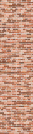 stone wall: Background texture of brown brick wall, common bond Stock Photo