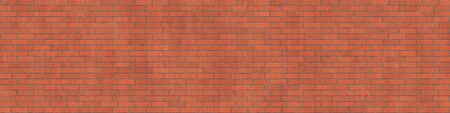 Background texture of red rough brick wall, stretcher bond