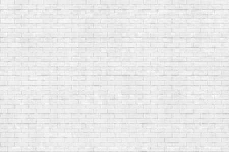 Background texture of white brick wall, stretcher bond