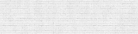 白いレンガの壁、ストレッチャーボンドの背景テクスチャ