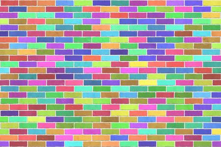Hintergrundbeschaffenheit der bunten Backsteinmauer, Bahreverbindung Standard-Bild - 88245113