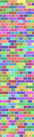 Struttura di sfondo di muro di mattoni colorati, legame comune Archivio Fotografico - 88245119