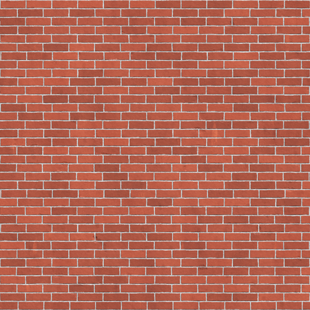 Background texture of red brick wall, stretcher bond