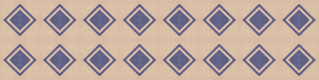 Cloth background with geometric pattern decorations, tileable seamless texture Stockfoto